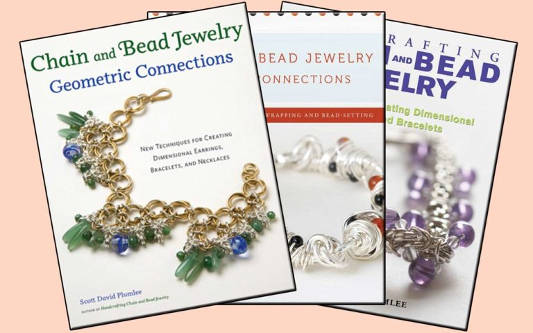 three book covers: Chain & Bead Jewelry Series